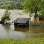 Zaplavené oblasti v Ústeckém kraji. Foto: Rostislav Pijáček